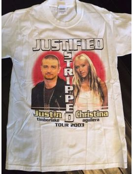 Justin Timberlake Christina Aguilera 03 Tour Shirt Sz S Britney Pop Mandy Jo Jo by C Port