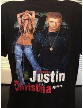 Christina Aguilera Justin Timberlake Tour Shirt Sz L Rap Britney Sexy Pop Mandy by Us T's