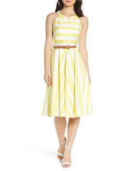 Halter Fit & Flare Dress by Eliza J