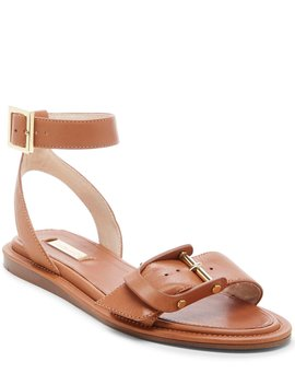 Benue Leather Big Buckle Sandals by Louise Et Cie