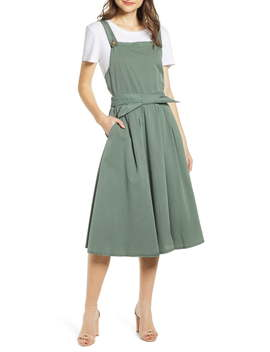 Flame Bow Front Cotton Jumper Dress by Vero Moda