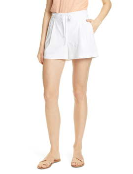 Drawstring Stretch Linen Blend Shorts by Nordstrom Signature