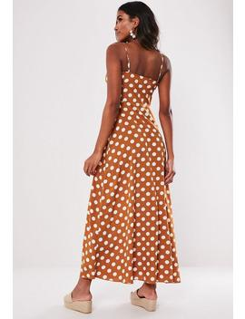 Rust Polka Dot Maxi Dress by Missguided