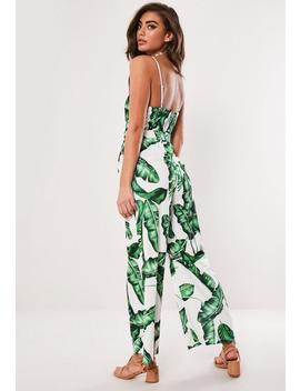 Green Palm Print Jumpsuit by Missguided