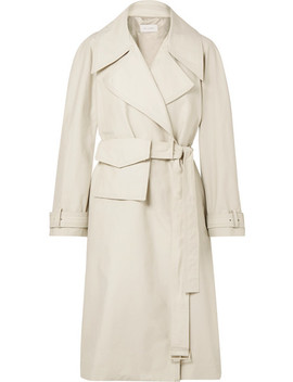 Cotton Blend Trench Coat by Low Classic
