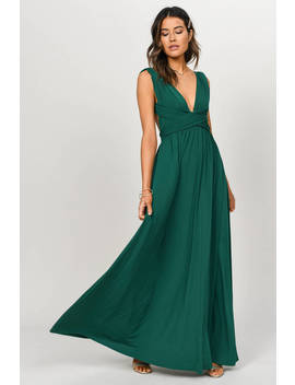 Make Me Crazy Green Multiway Maxi Dress by Tobi
