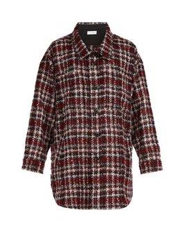 Tartan Tweed Overshirt by Faith Connexion