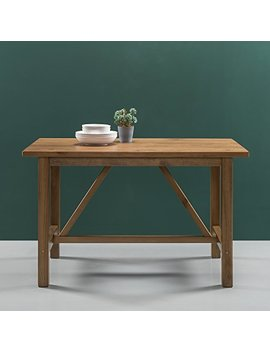 Zinus Detailed Dining Table In Natural Finish by Zinus