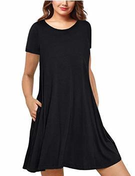 Amz Plus Womens Plus Size Casual Boho Sundress Summer Sleeveless Dresses by Amz Plus