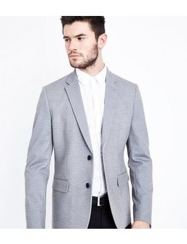 Mid Grey Jersey Blazer by New Look