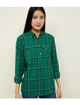 Green Check Brushed Cotton Shirt by New Look