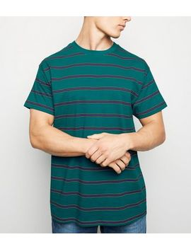 Teal Stripe T Shirt by New Look