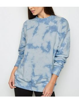 Blue Tie Dye Oversized Sweatshirt by New Look
