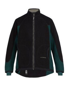 Air Two Tone Wool Blend Fleece Jacket by And Wander