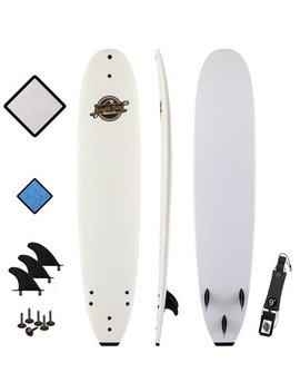 South Bay Board Co. 8'8 Heritage Soft Top Surfboard, White by South Bay Board Co.