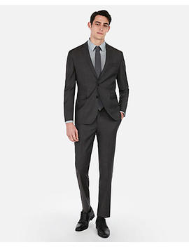 Slim Charcoal Wool Blend Stretch Suit Pant by Express