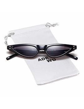 Small Cat Eye Sunglasses Vintage Retro Designer Glasses For Women by Adewu