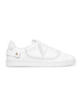 Valentino Garavani Net Perforated Leather Sneakers by Valentino
