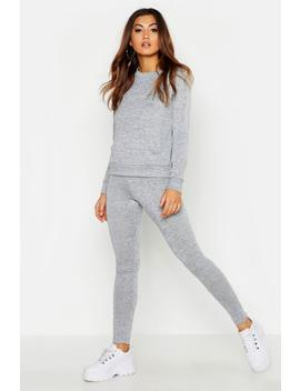 Pocket Front Knitted Lounge Set by Boohoo