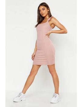 Ruffle Rib Mini Dress by Boohoo