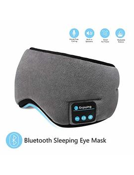 Bluetooth Sleeping Eye Mask Headphones,Skyeol 4.2 Wireless Bluetooth Headphones Adjustable&Washable Music Travel Sleeping Headset With Built In Speakers Microphone Hands Free For Sleeping (Grey) by Skyeol
