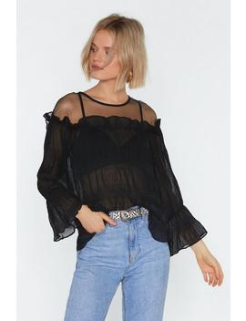 Don't Mesh With Me Crinkle Blouse by Nasty Gal