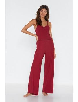 Bedding Home Tank Top And Wide Leg Pants Lounge Set by Nasty Gal