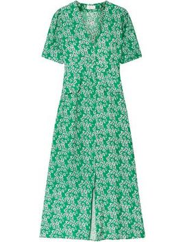 Jackson Floral Print Crepe De Chine Midi Dress by Rixo London