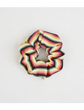 Multicoloured Stripe Scrunchie by New Look
