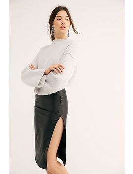 Jagger Leather Skirt by Trois
