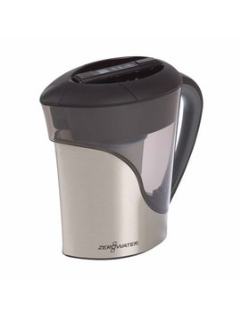 Zerowater 11 Cup Ready Pour Stainless Steel Pitcher With Free Water Quality Meter (Zs 011 Rp) by Zero Water