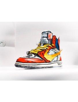 Goku Off White Jordan 1 Inspired Custom by Etsy