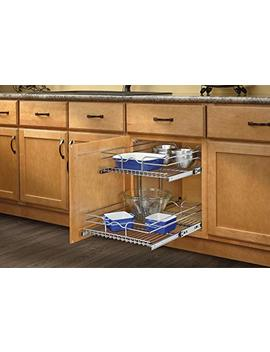 "Rev A Shelf 5 Wb2 1822 Cr 17.75"" X 22"" Double Pullout Wire Basket by Rev A Shelf"