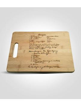 Custom Engraved Family Recipe Cutting Board, Mother's Day Gift For Mom, Handwritten Recipe Cutting Board, Grandmother's Recipe Cutting Board by Etsy