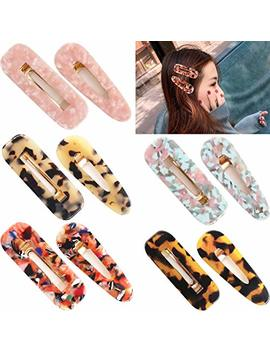 Ded 10 Pieces Resin Hair Clips For Women Acetic Acid Hairclips Hair Barrettes For Women Lady by Ded