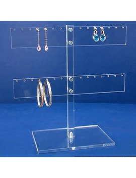 Acrylic 14 Pair Earring T Bar Display Tree Holder by Finding King