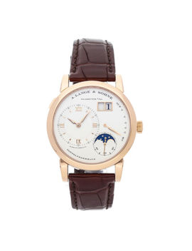 A. Lange & Sohne Lange 1 Moon Phase Manual Rose Gold Mens Strap Watch 09.032 by A. Lange & Sohne