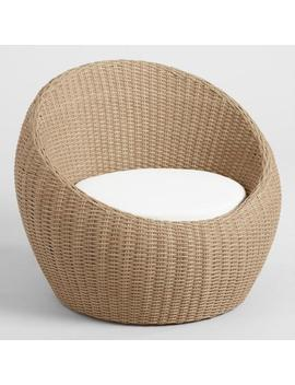 All Weather Wicker Vilamoura Outdoor Occasional Egg Chair by World Market