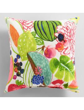Santiago Fruit Outdoor Throw Pillow by World Market