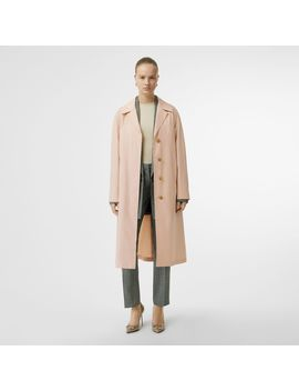 Belted Cotton Silk Car Coat by Burberry