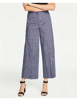 The Chambray Wide Leg Marina Pant by Ann Taylor