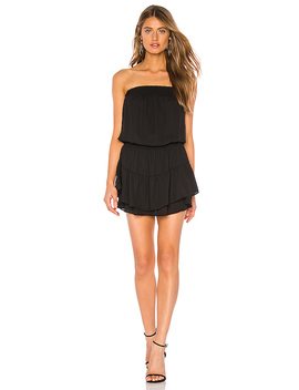 Smocked Strapless Mini Dress by Krisa
