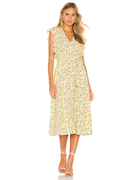 Blossom Cluster Flounce Sleeve Wrap Dress by 1. State