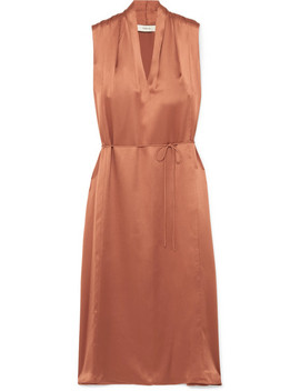 Silk Satin Midi Dress by Vince