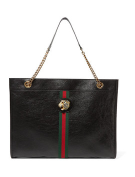 Rajah Large Embellished Leather Tote by Gucci