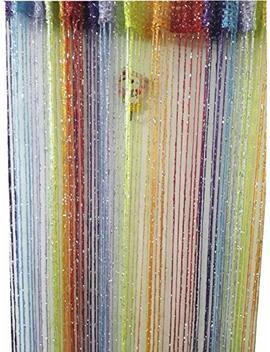 Ave Split Decorative Door String Curtain Wall Panel Fringe Window Room Divider Blind Divider Tassel Screen Home 100cm200cm (Colorful18) by Ave Split