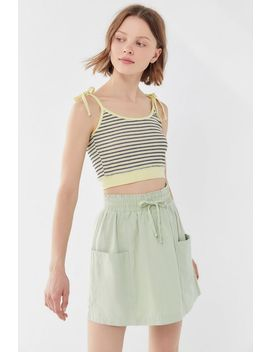 Uo Emery Pull On Drawstring Mini Skirt by Urban Outfitters