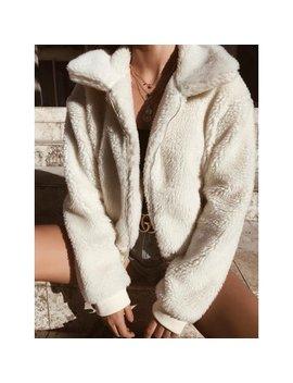 Womens Thick Warm Teddy Bear Pocket Fleece Jacket Coat Zip Up Outwear Overcoat by Urkutoba