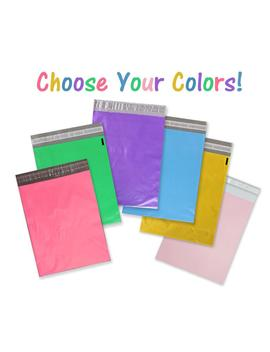 20 Pack 14.5x19 Poly Mailers, Hot Pink, Green, Blue, Yellow, Purple, Pastel Pink, Flat Poly Mailing Shipping Bags, Combo Color Shipping Bags by Etsy