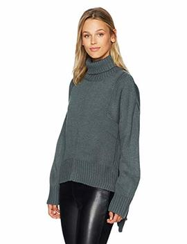 Lucca Couture Women's Tracy Turtleneck Boyfriend Sweater by Lucca Couture